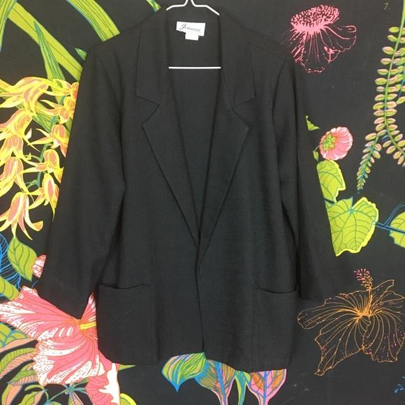 Vintage Jackets & Blazers - VINTAGE / Black Blazer